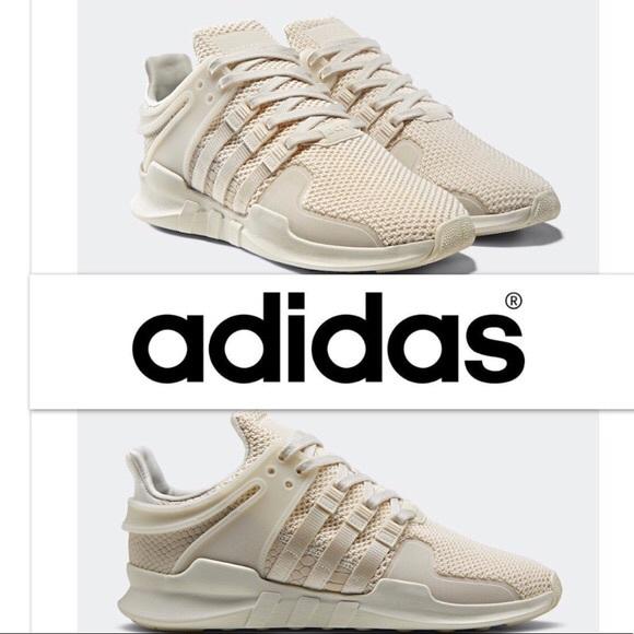 Womens Cream Adidas Tennis Shoes